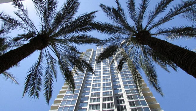 Arizona added 28,800 non-farm jobs in September, according to the U.S. Bureau of Labor Statistics. The growth will lead to more jobs and the need for housing, such as this luxury apartment complex in downtown Phoenix.