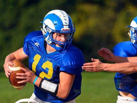 Noah Hulslander returns at quarterback for Kennard-Dale in 2018. John A. Pavoncello photo