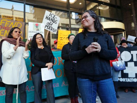 Maru Mora-Villalpando dijo el martes que el ICE le