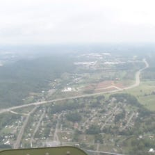 View from bomber over Tri Cities
