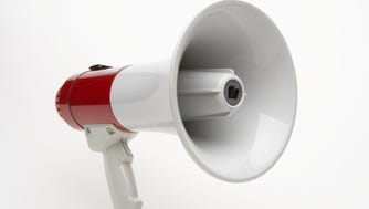 A stock image of a megaphone.