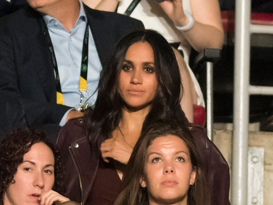 Meghan Markle in the stands at opening ceremony of