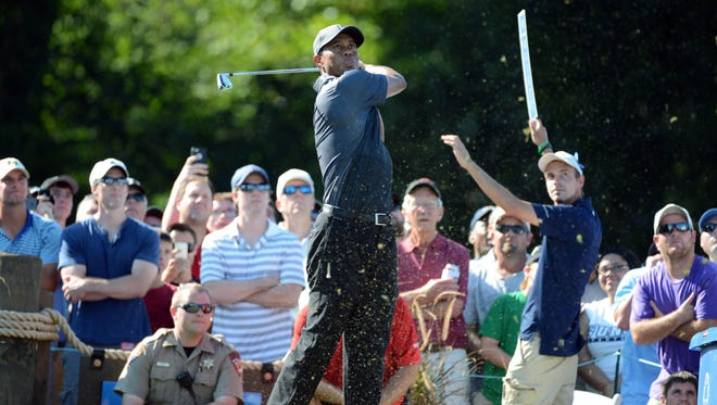 Tiger Woods is playing at the Sedgefield Country Club for the first time in his career.