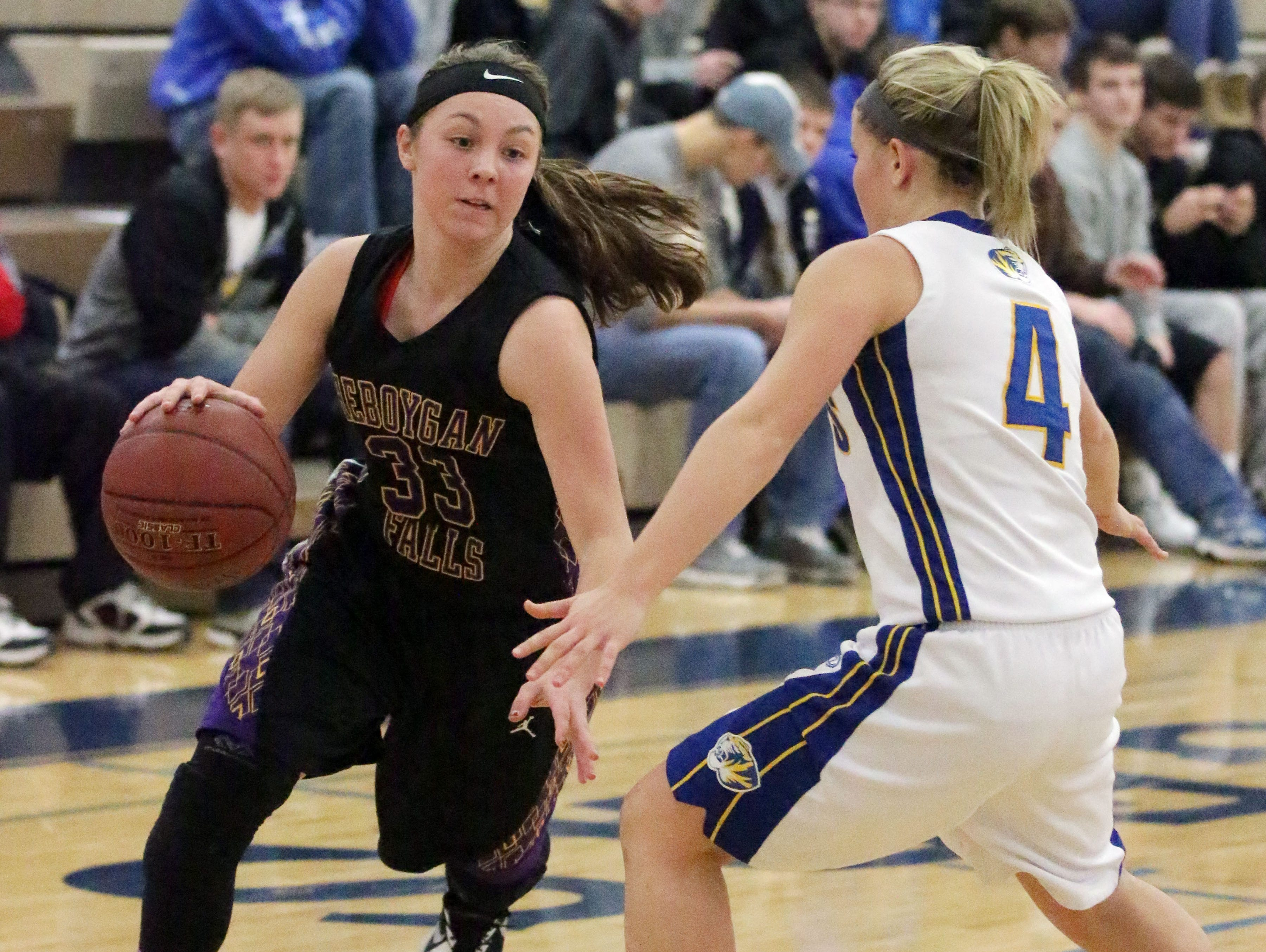 Senior Becky Raeder was the leading scorer last year for the Falcons and a first-team all-conference selection a year ago.
