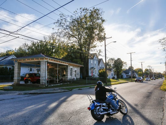 Nick Sibley converted this 300-square-foot gas station into a house at Mt. Vernon Street and South Main Avenue.