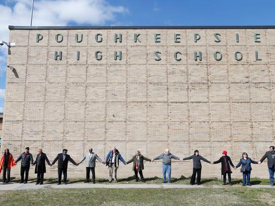 Participants of the Surround Our Schools event at Poughkeepsie