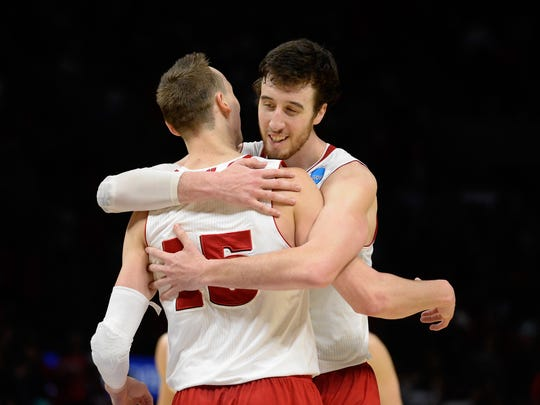 Wisconsin's Sam Dekker and Frank Kaminsky are both expected to be first-round picks in the NBA draft.