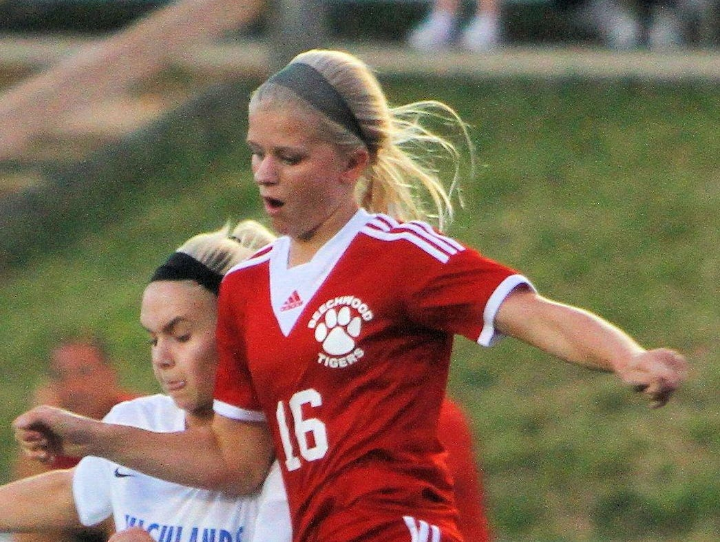 Beechwood's Marie Schilling scored both Beechwood goals in their 2-2 tie with Villa Madonna Tuesday.