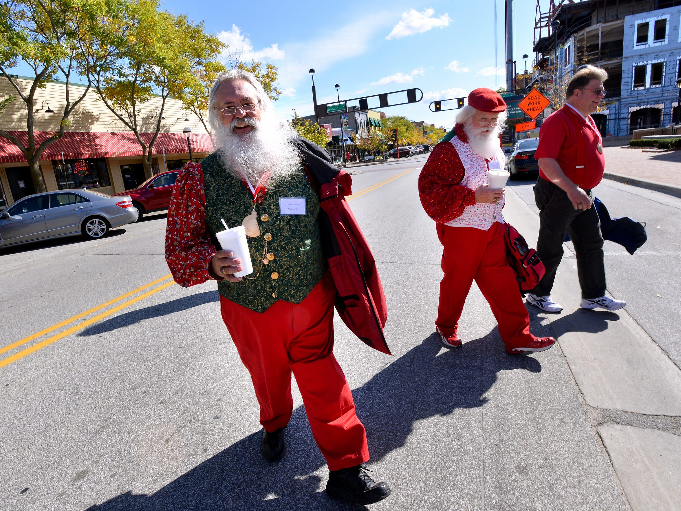 The streets of Midland, MI, are full of Santas for