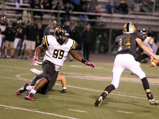 Avon's C.J. Hunt (99) was a first-team AP all-state