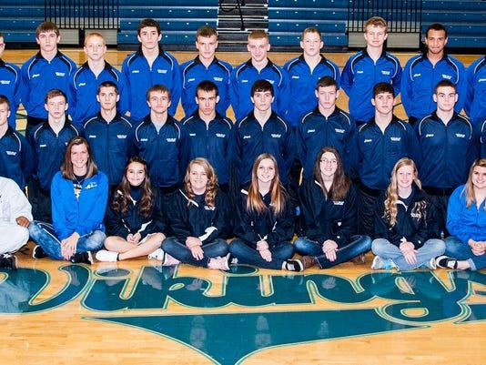 2014-15 River Valley wrestling team