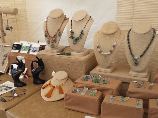 Artist Jackie Gedrose will be showing her jewelry at Art on the Green this year.