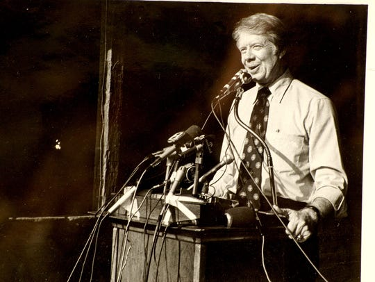 Georgia Gov. Jimmy Carter spoke at a campaign rally