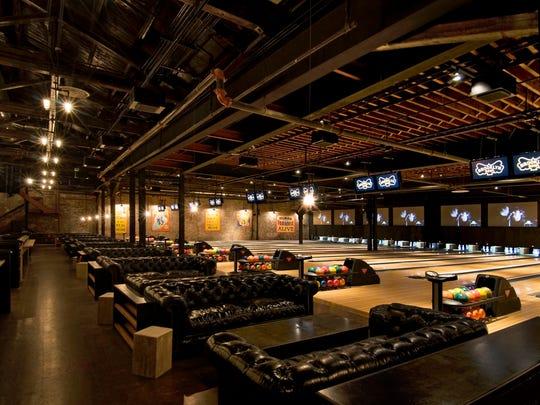 The bowling lanes at Brooklyn Bowl