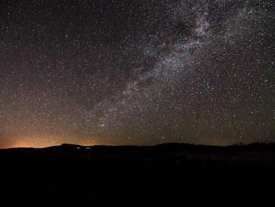 The nighttime view in Southern Utah, near Brian Head and Parowan.