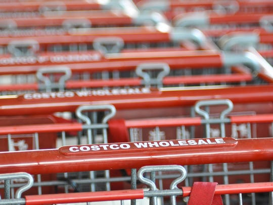 The iconic red Costco shopping carts