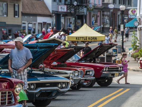 Classics and custom cars abound at the Boonton Car Show on Main Street, Boonton, August 14, 2016.