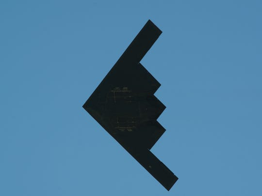 United States Air Force B-2A Spirit performs a flyby
