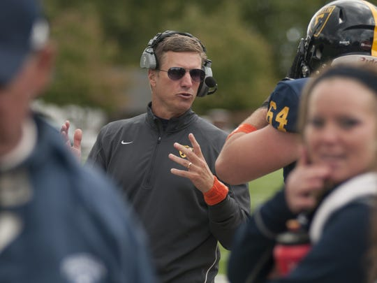 Franklin College coach Mike Leonard, shown here in