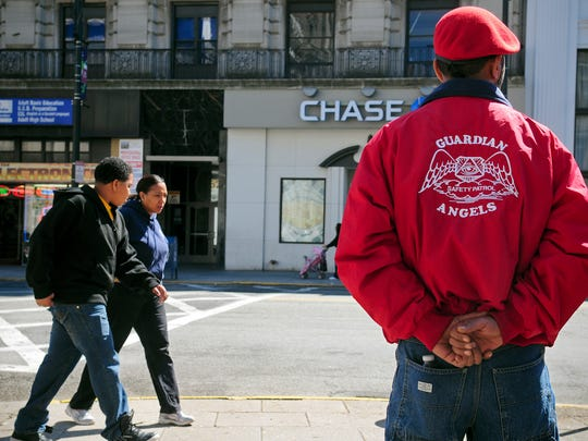 The Guardian Angels arrived in Paterson on Sunday, April 17, 2011, to begin patrolling the city. The Guardian Angels met in front of City Hall before fanning out to make their presence in the city known to residents.
