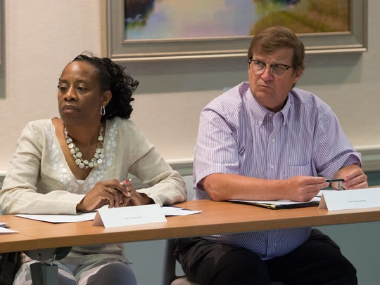 Tamera Fair, left, and David Humes during a Behavioral