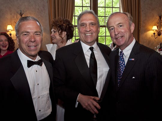 (L-R) Paul Boudreau of Basking Ridge, President of