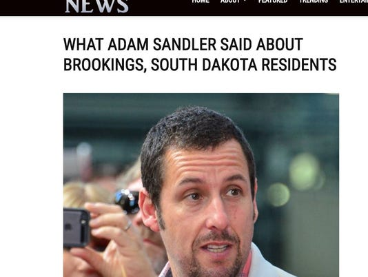 Fake news adam sandler