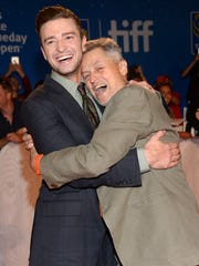 Justin Timberlake, left, and director Jonathan Demme