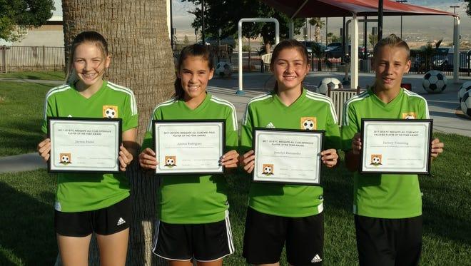 Jaymie Hulet, from left, Alishia Rodriguez, Joselyn Hernandez, Zachary Trimming.