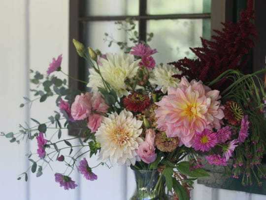 Diana Mae Flowers, based in Beacon, uses farm-raised flowers for springtime bouquets.