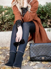 I love the trend of sock booties, which are big this winter.