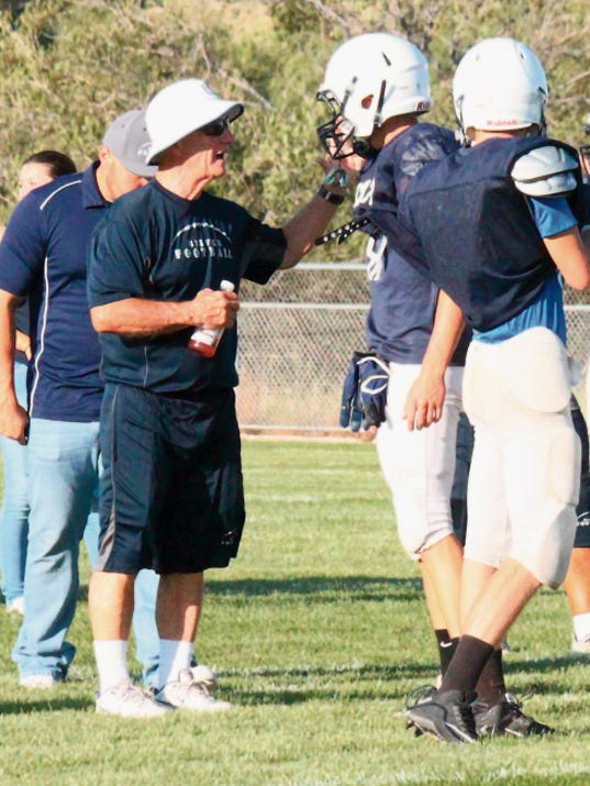Danny Udero/Sun-News   Silver head football coach Butch Branson will take a leave of absence due to medical reasons.