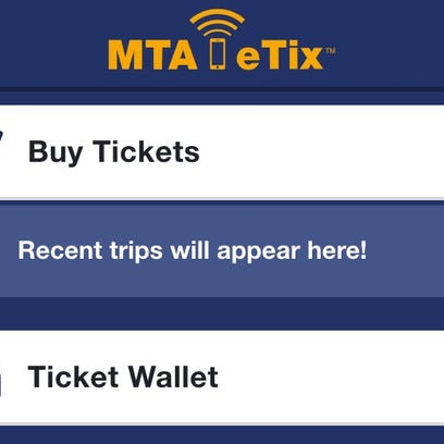 When riders open up the MTA eTix app, this is what