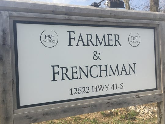 The sign at Farmer & Frenchman winery and restaurant
