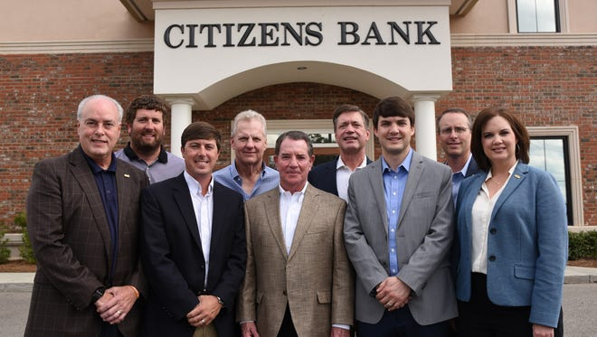 Pictured, from left in the front row, are Lee Fedric, Brad Wood, Mack Grubbs, Jonathan Duhon and Hope Broome. In the back row are Charlie Rogers, Phil Hanberry, Jeff Carter and Douglas Neal.