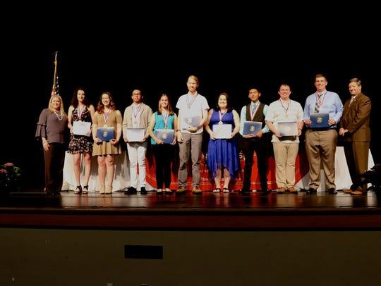 2018 Senior Academic Award winners from Pine Forest