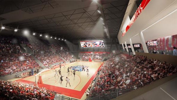 An artist's rendering of NJIT's new Wellness and Events Center. There was a groundbreaking ceremony for the building on Thursday morning