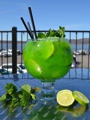 The Green Lantern cocktail at Sambal in Irvington.