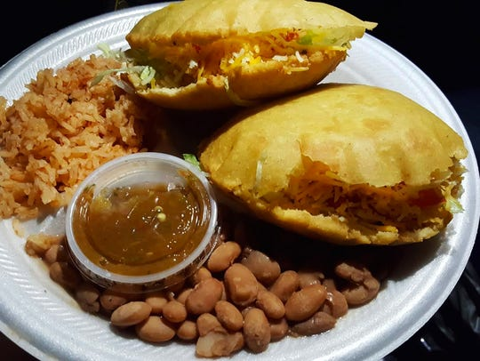 The gordita plate ($8) comes with two gorditas, salsa,