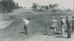 Bobby Jones tries out the new course.