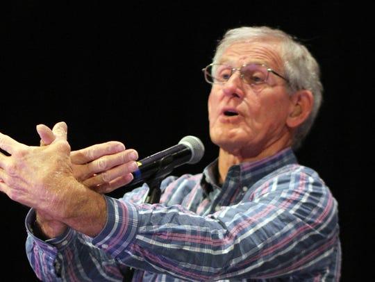 Joe Hayes, renowned New Mexico storyteller, captivated