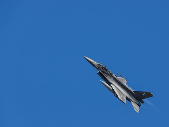 A Hellenic air force F-16 Fighting Falcon fighter aircraft