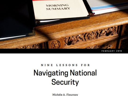 """The report """"Nine Lessons for Navigating National Security"""""""