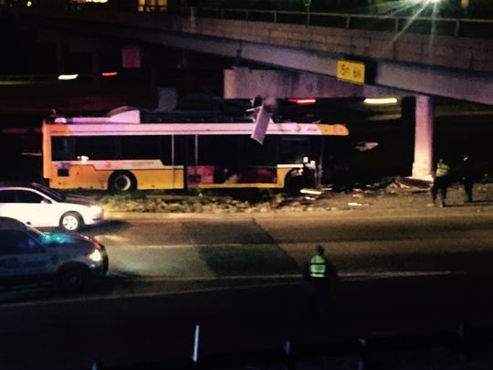 One person was killed Friday night when a DART bus