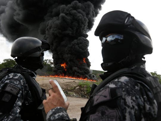 Counter-narcotics agents destroy some 11 tons of marijuana,