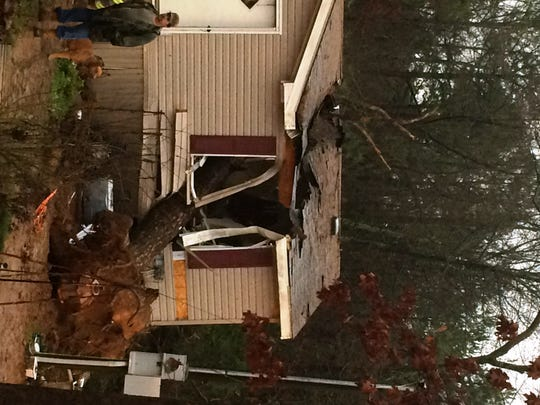 Home damaged in storm in Pope County
