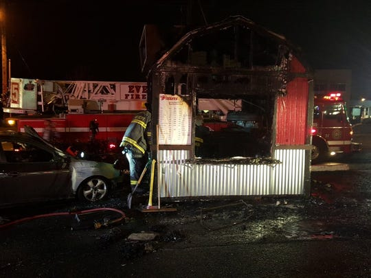 Everett Fire officials say a young woman was injured