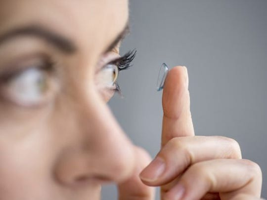 Glasses and contact lense solution.