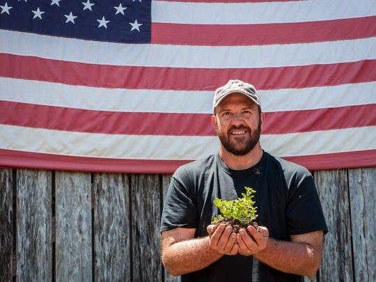 Marine Corps veteran Calvin Riggleman poses with his