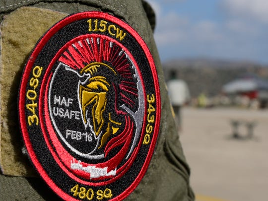 The 480th EFS's patch commemorates a flying training